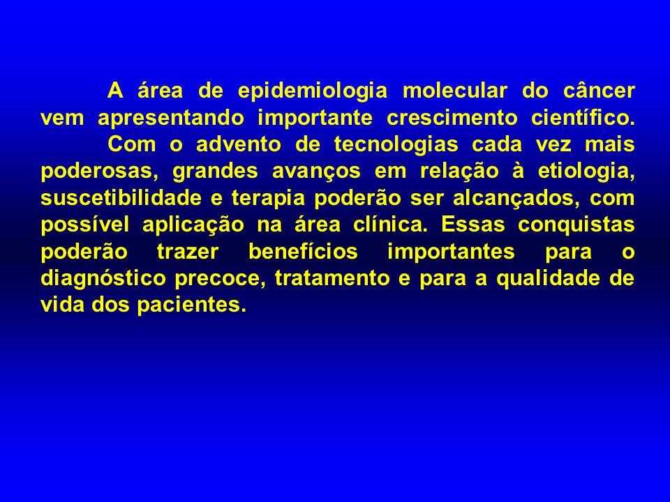 A área de epidemiologia molecular do câncer vem apresentando importante crescimento científico.