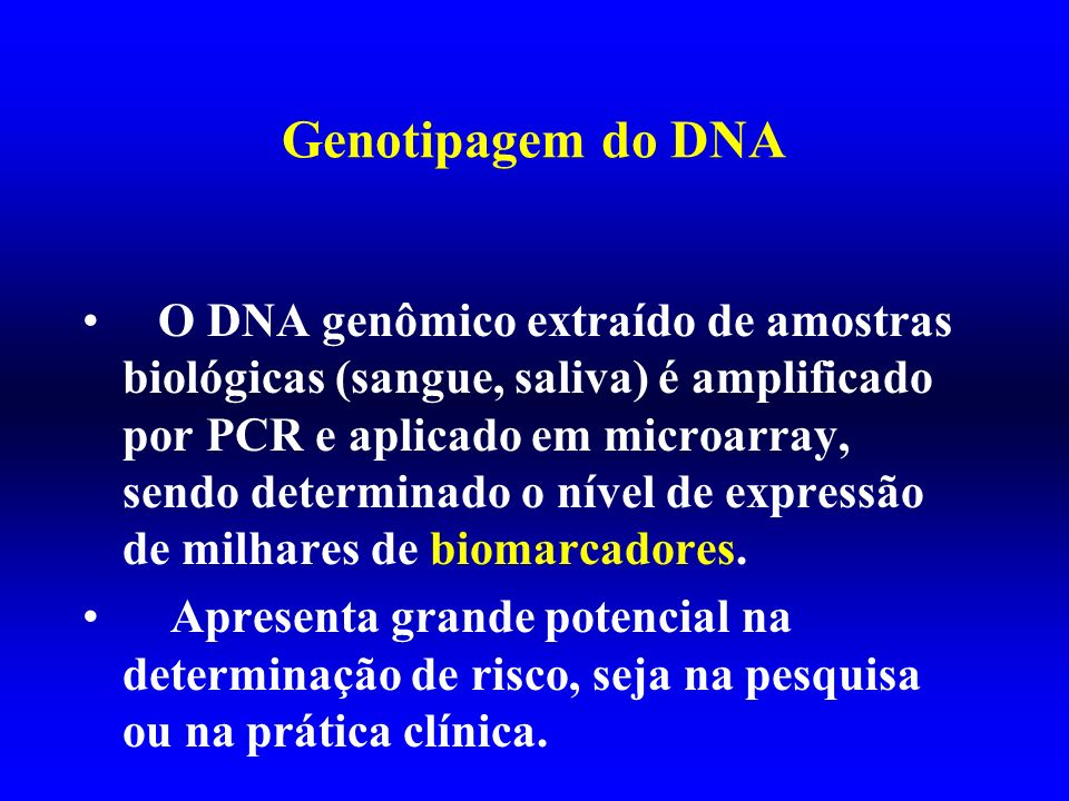Genotipagem do DNA