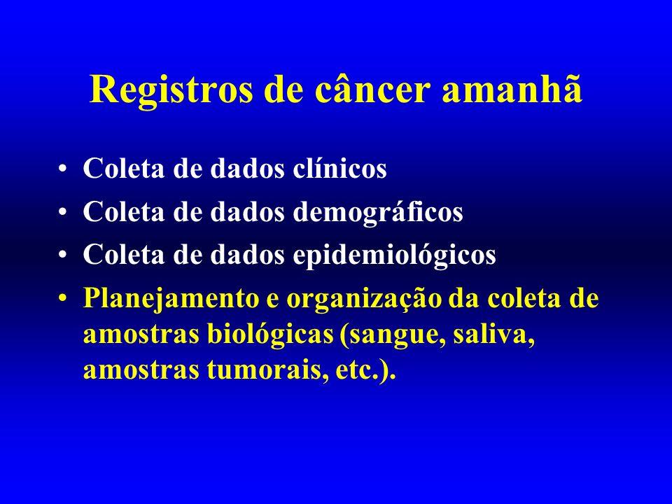 Registros de câncer amanhã