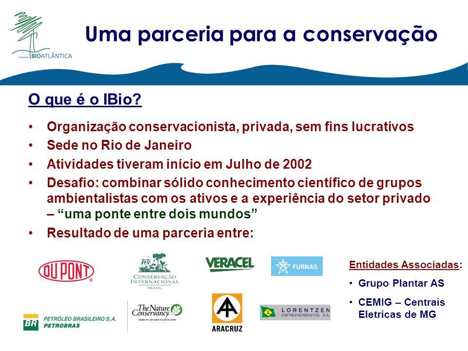 Uma parceria para a conservação