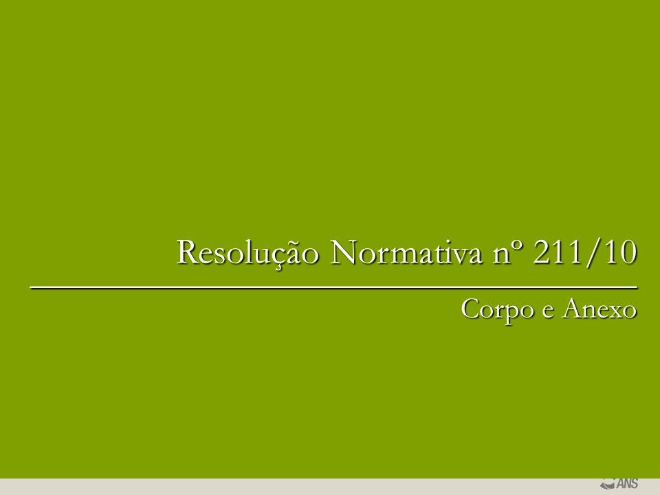 Resolução Normativa nº 211/10