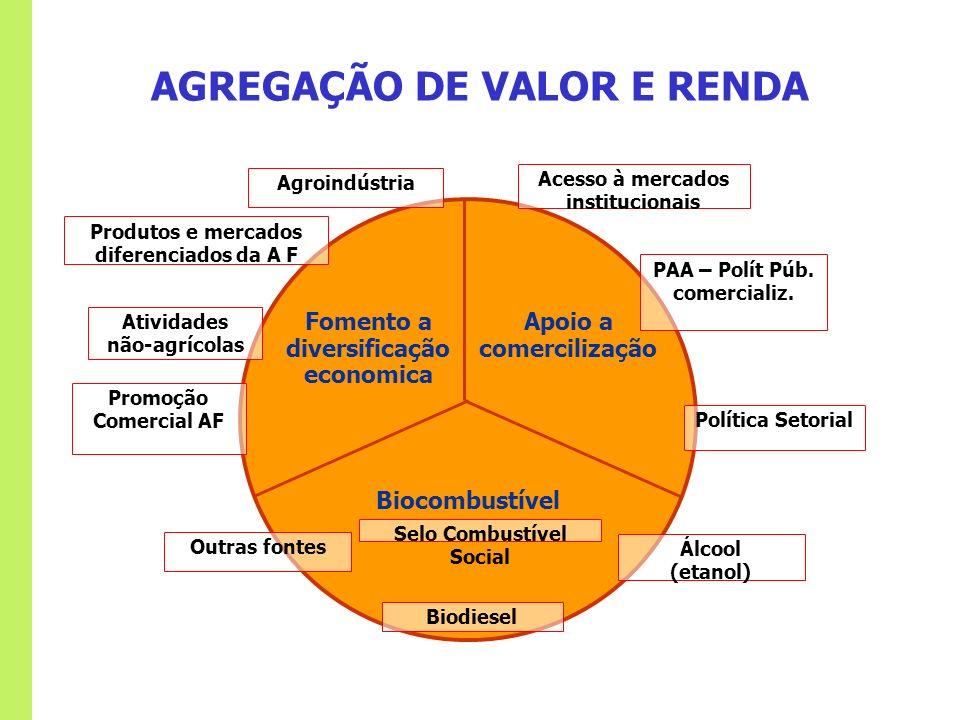 AGREGAÇÃO DE VALOR E RENDA