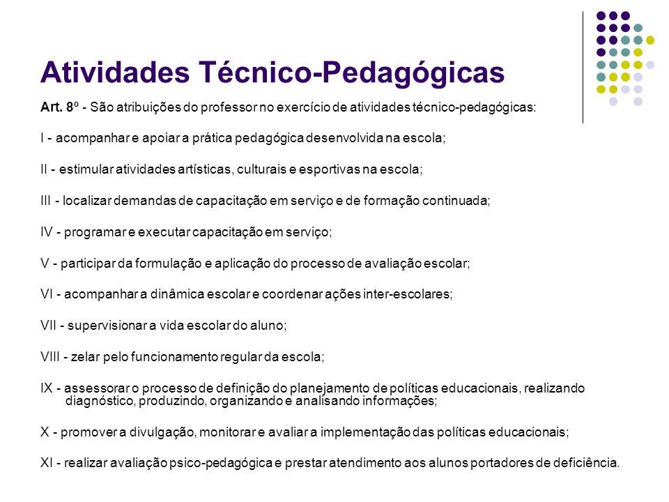 Atividades Técnico-Pedagógicas