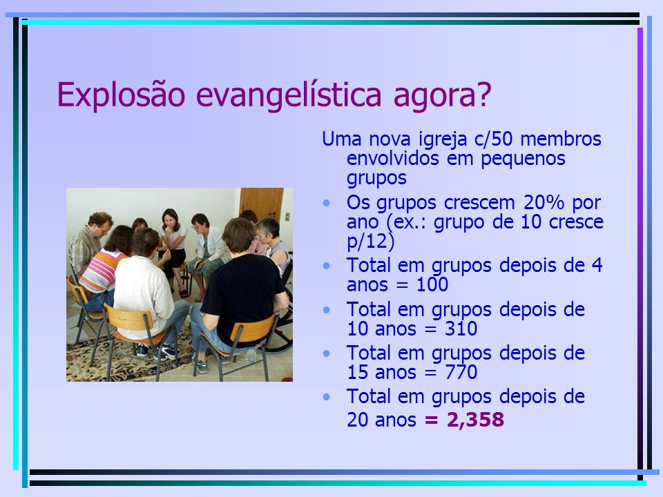 Explosão evangelística agora