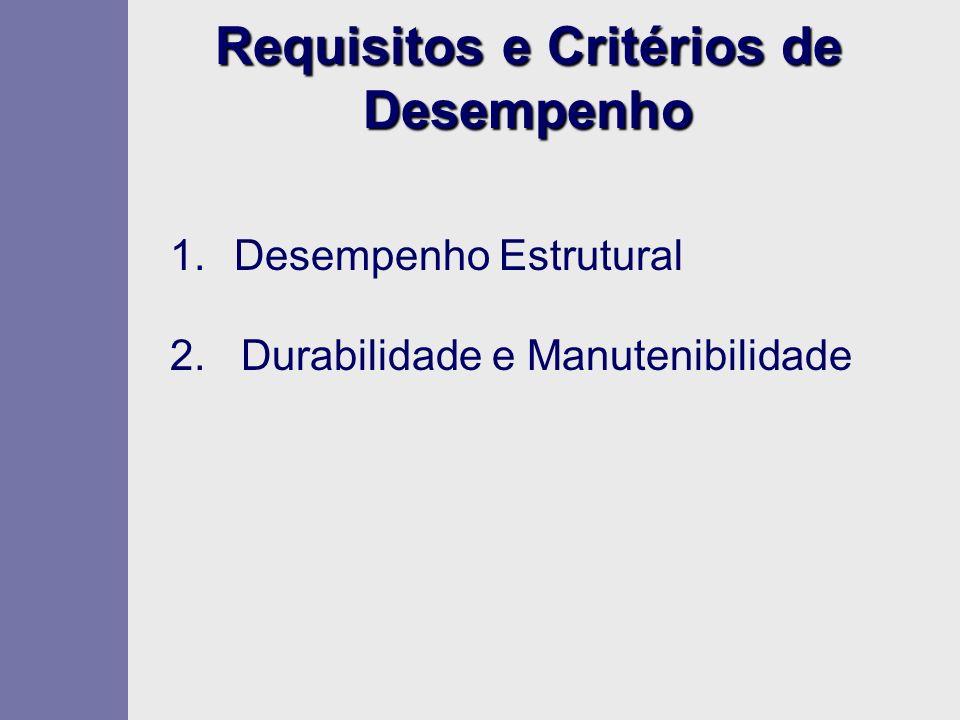 Requisitos e Critérios de Desempenho