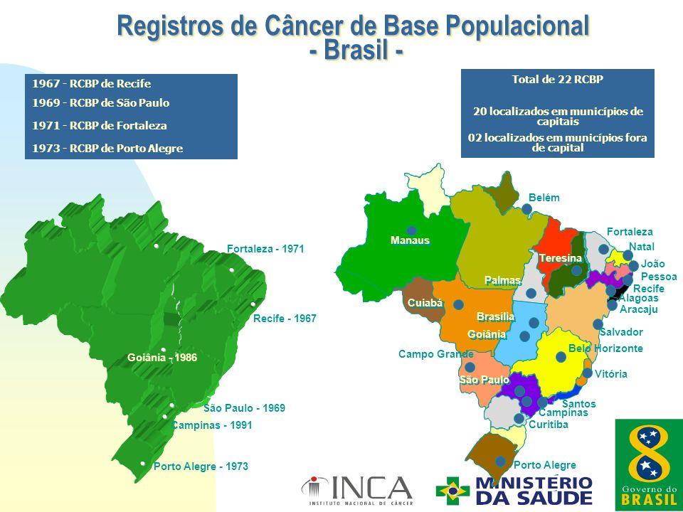 Registros de Câncer de Base Populacional - Brasil -