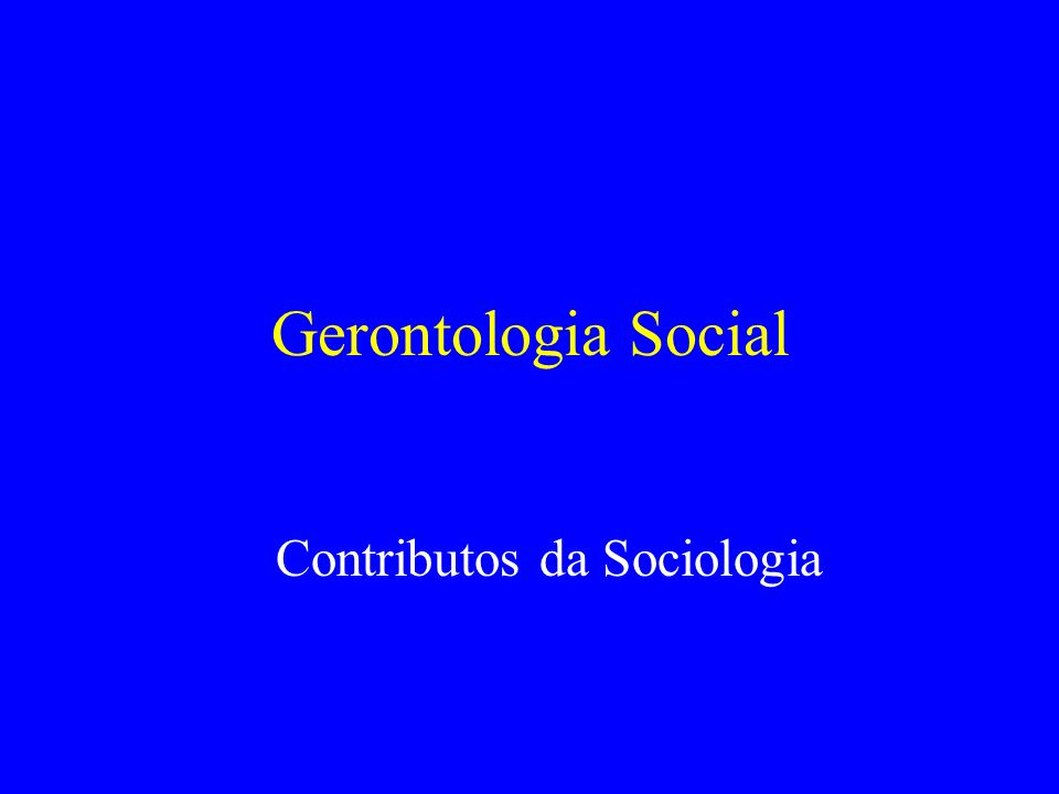 Contributos da Sociologia