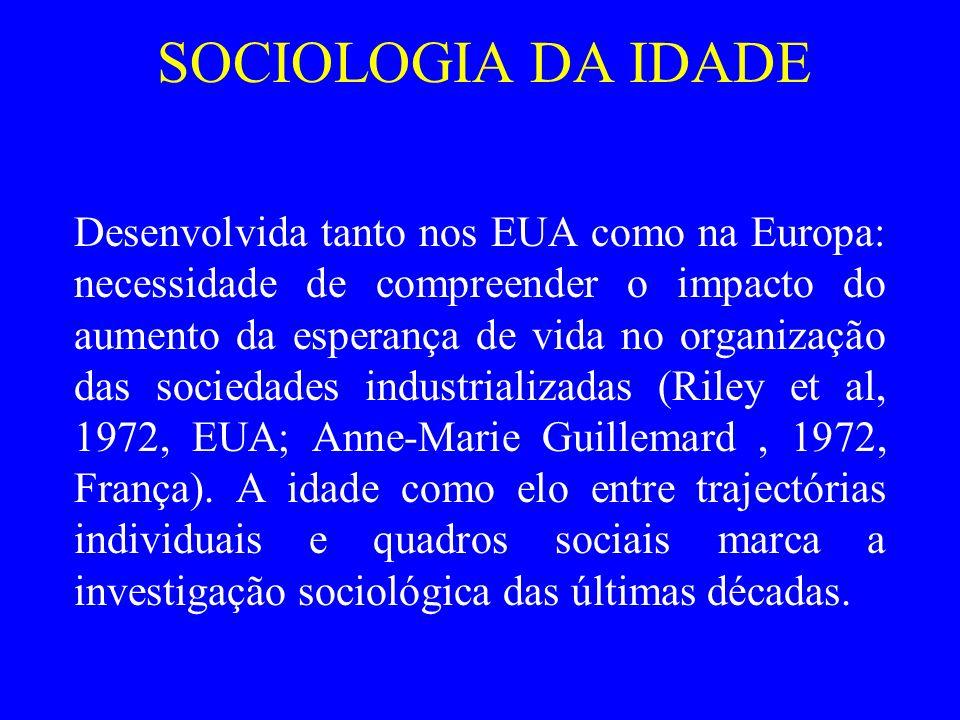 SOCIOLOGIA DA IDADE