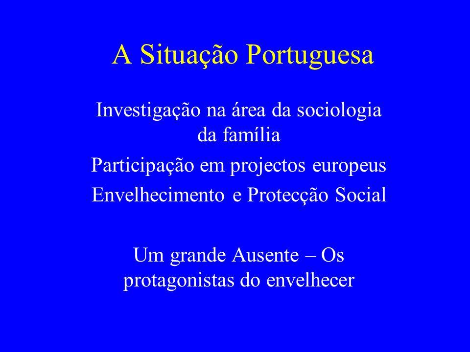 A Situação Portuguesa Investigação na área da sociologia da família