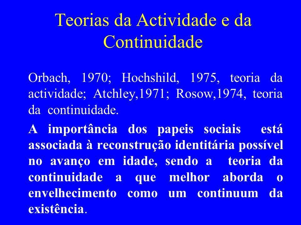 Teorias da Actividade e da Continuidade