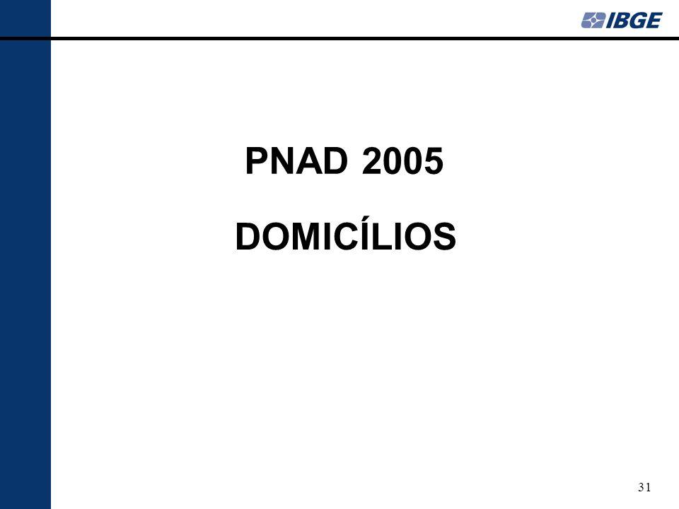 PNAD 2005 DOMICÍLIOS