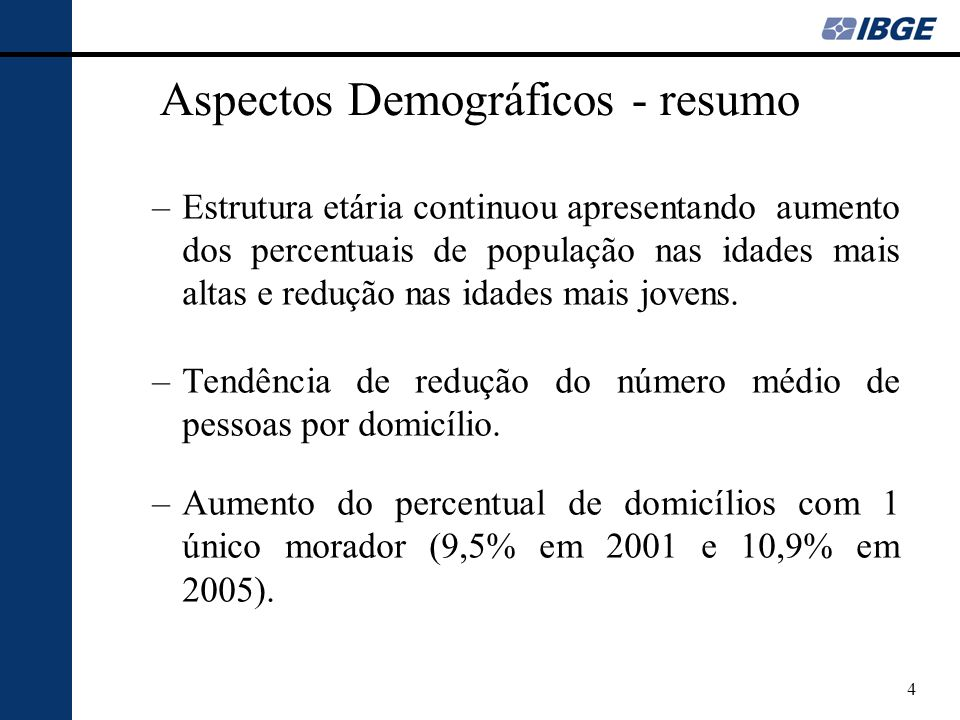 Aspectos Demográficos - resumo