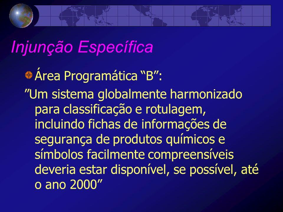 Injunção Específica Área Programática B :
