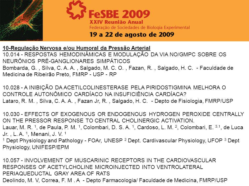 10-Regulação Nervosa e/ou Humoral da Pressão Arterial