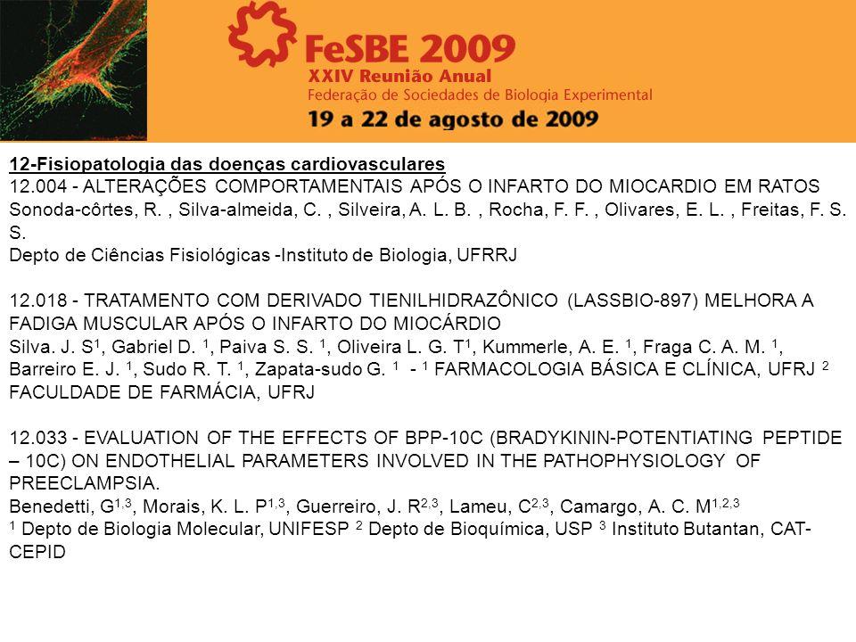 12-Fisiopatologia das doenças cardiovasculares