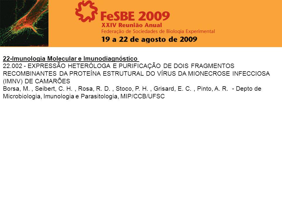 22-Imunologia Molecular e Imunodiagnóstico