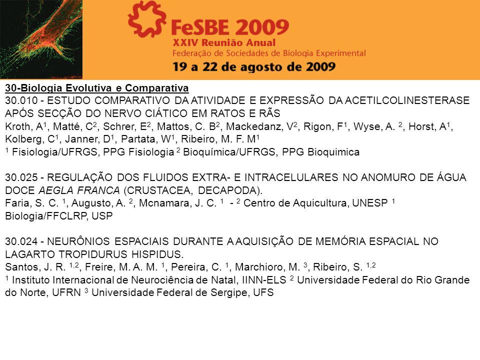 30-Biologia Evolutiva e Comparativa