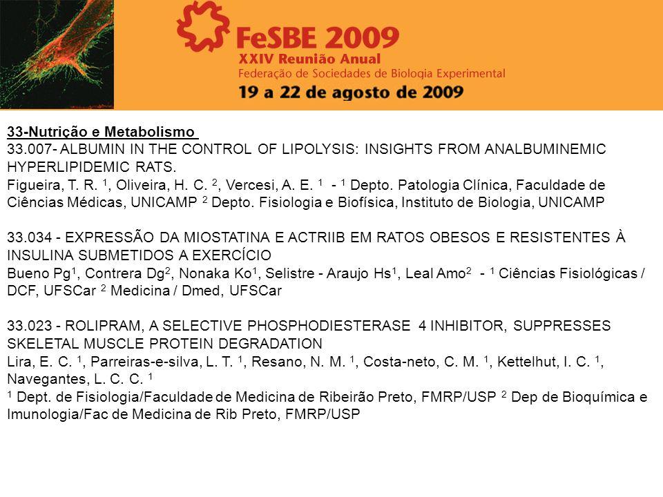 33-Nutrição e Metabolismo