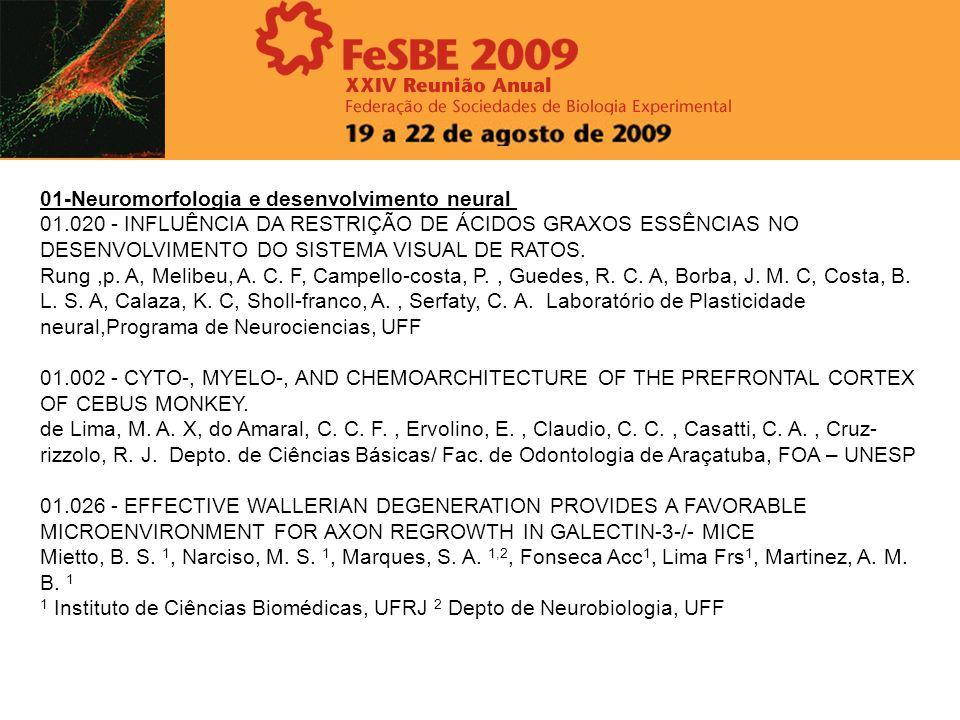 01-Neuromorfologia e desenvolvimento neural