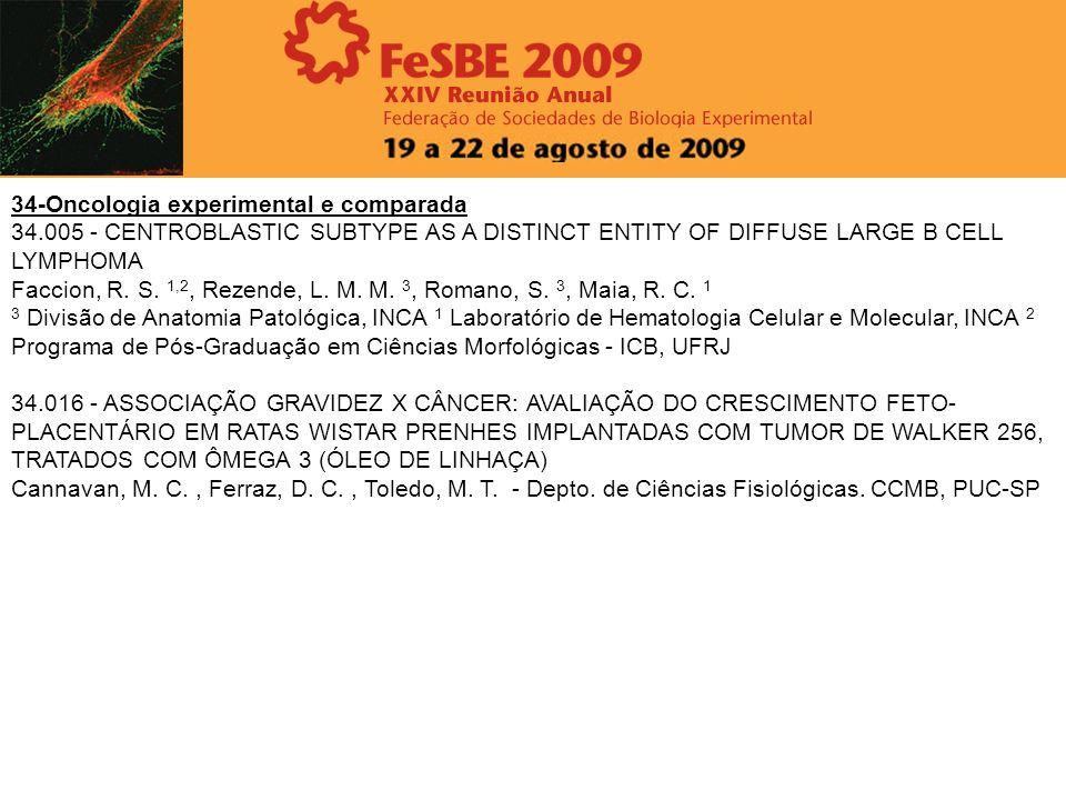34-Oncologia experimental e comparada