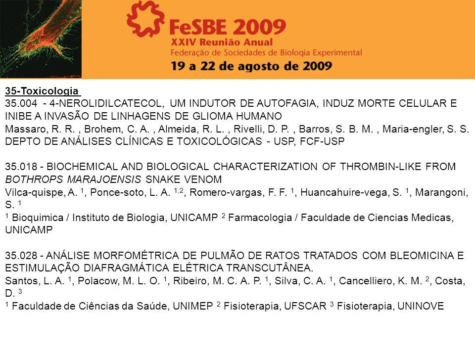 35-Toxicologia 35.004 - 4-NEROLIDILCATECOL, UM INDUTOR DE AUTOFAGIA, INDUZ MORTE CELULAR E INIBE A INVASÃO DE LINHAGENS DE GLIOMA HUMANO.
