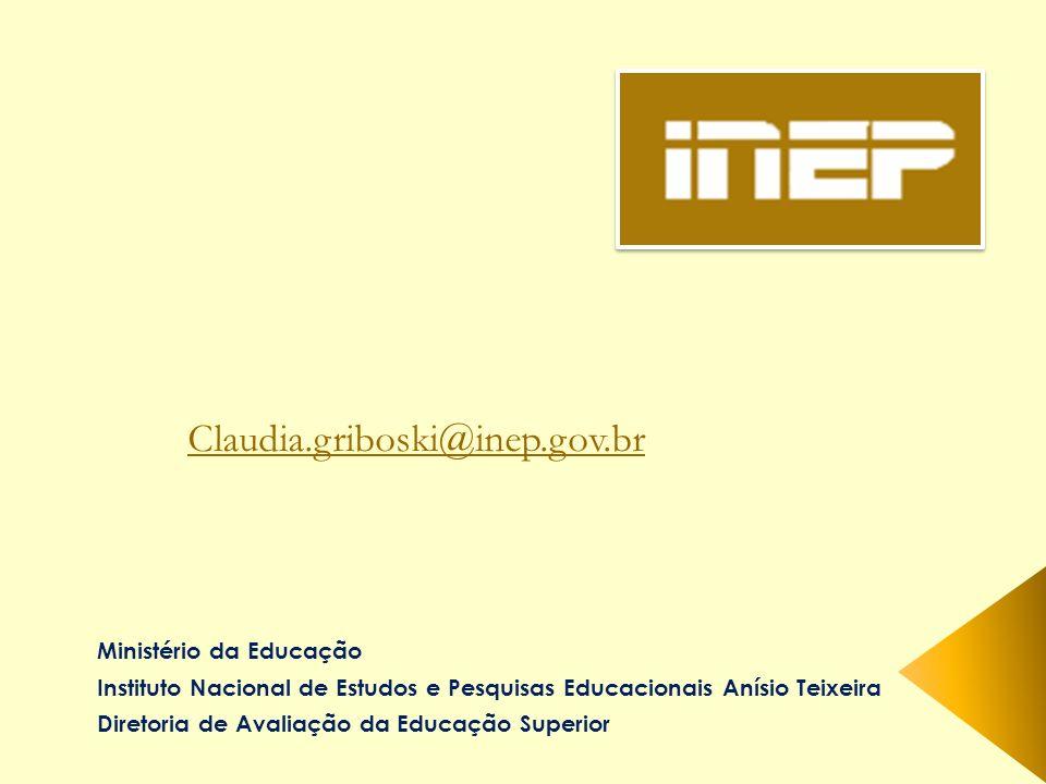 Claudia.griboski@inep.gov.br Ministério da Educação
