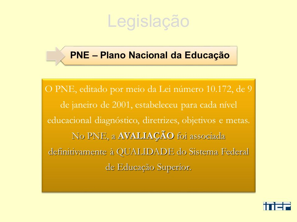 PNE – Plano Nacional da Educação