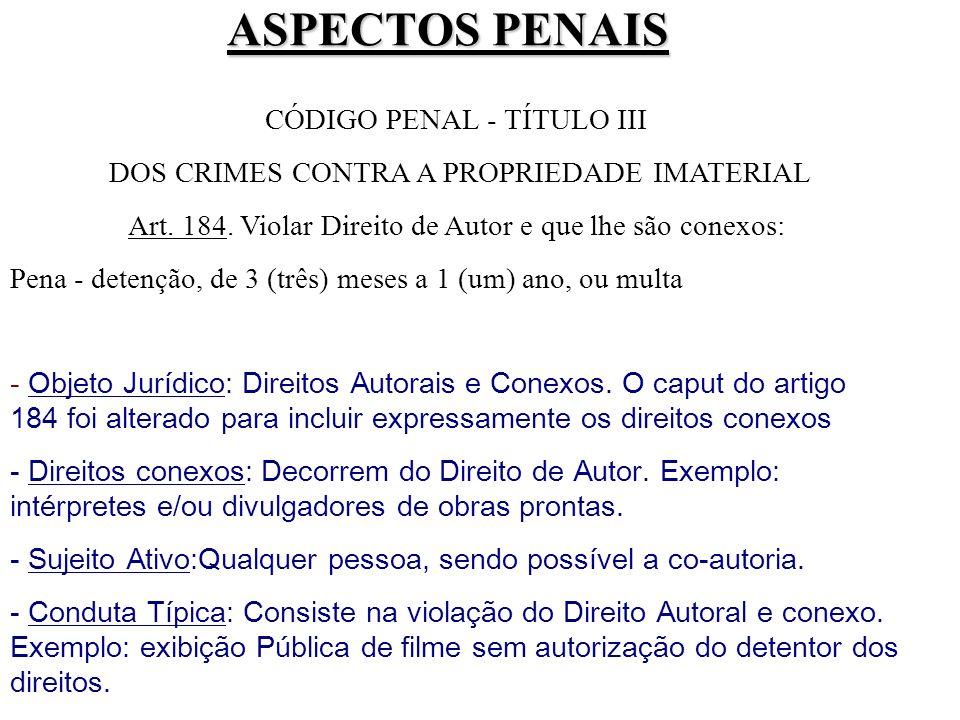 ASPECTOS PENAIS CÓDIGO PENAL - TÍTULO III