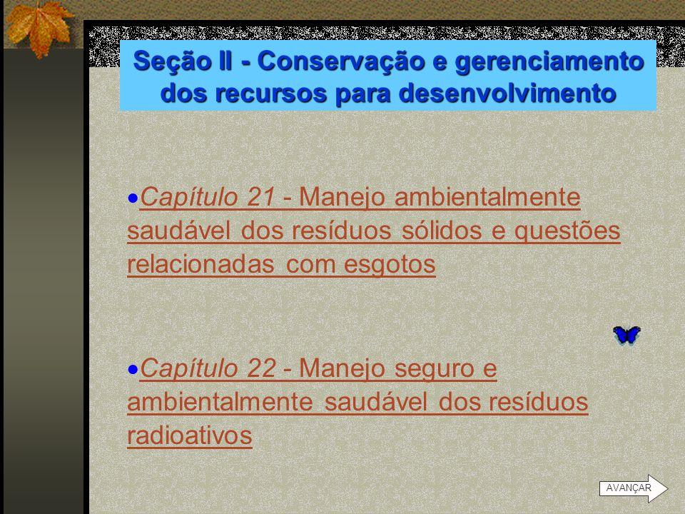 Seção II - Conservação e gerenciamento dos recursos para desenvolvimento
