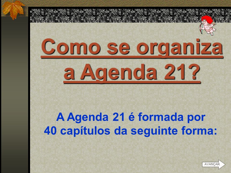 Como se organiza a Agenda 21