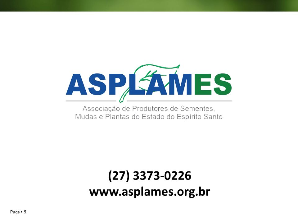 (27) 3373-0226 www.asplames.org.br