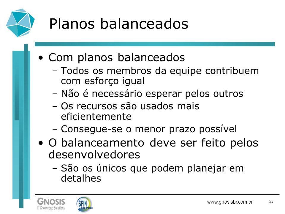 Planos balanceados Com planos balanceados