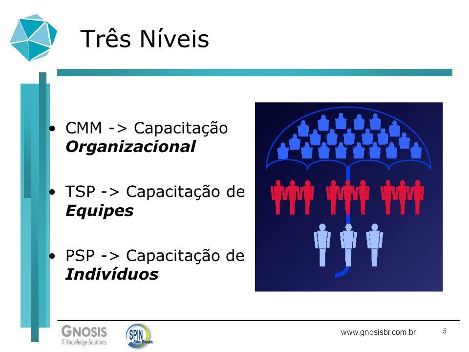 Três Níveis CMM -> Capacitação Organizacional