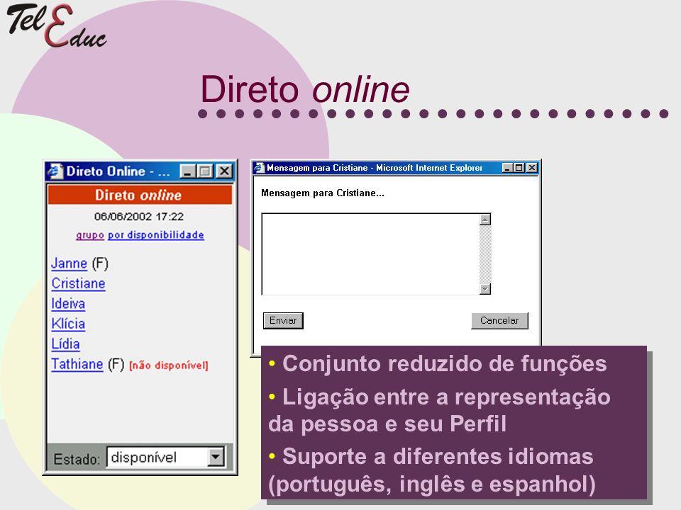 Direto online Conjunto reduzido de funções