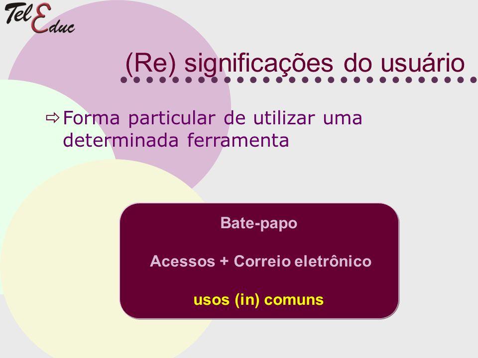(Re) significações do usuário
