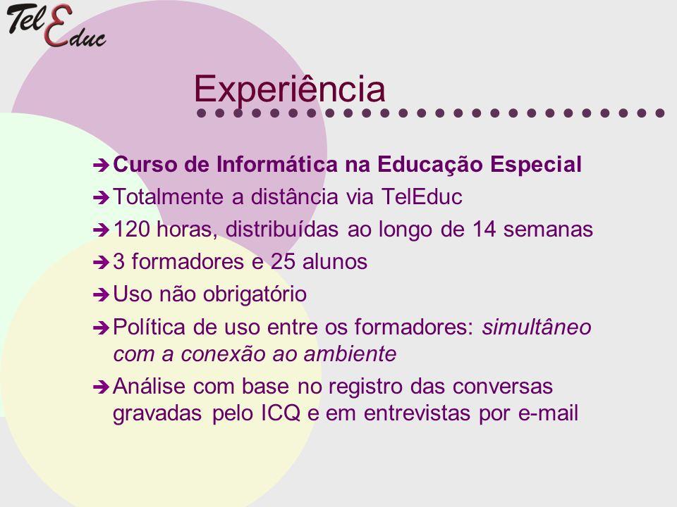Experiência Curso de Informática na Educação Especial