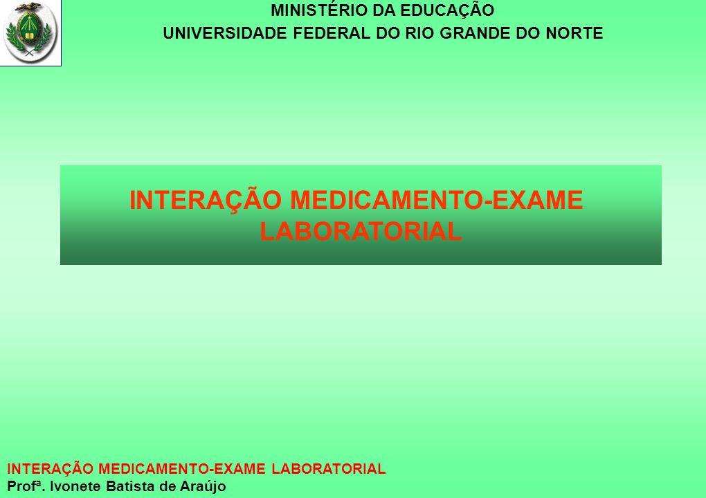 INTERAÇÃO MEDICAMENTO-EXAME