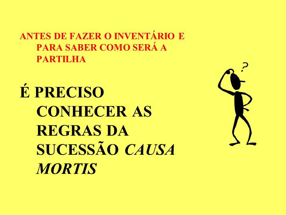 É PRECISO CONHECER AS REGRAS DA SUCESSÃO CAUSA MORTIS