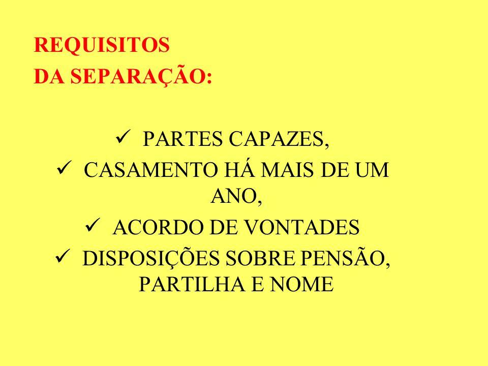 CASAMENTO HÁ MAIS DE UM ANO, ACORDO DE VONTADES