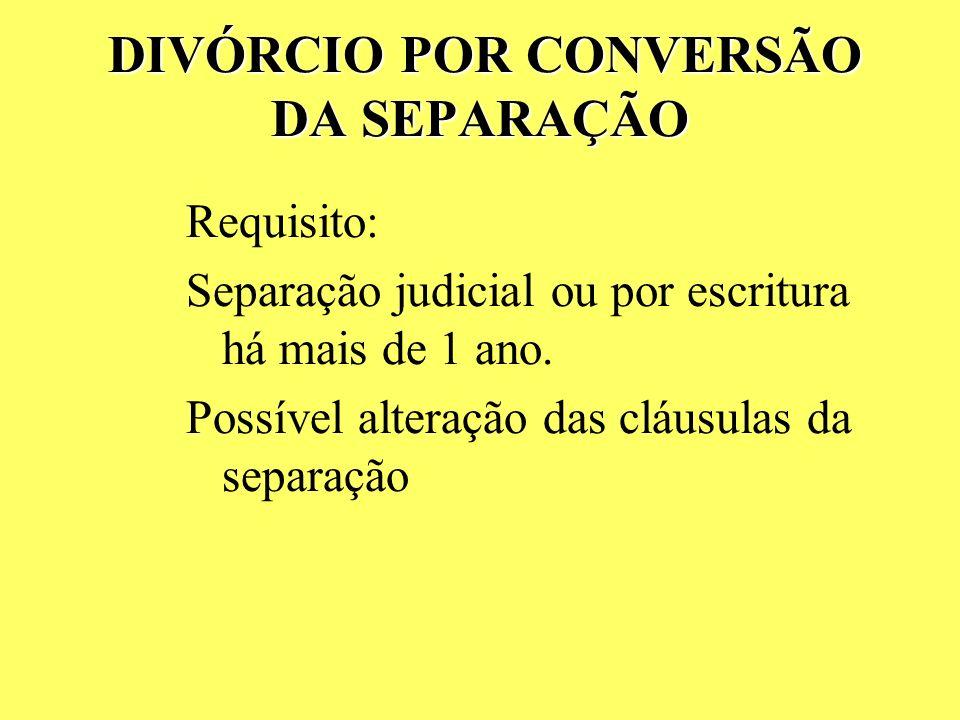 DIVÓRCIO POR CONVERSÃO DA SEPARAÇÃO