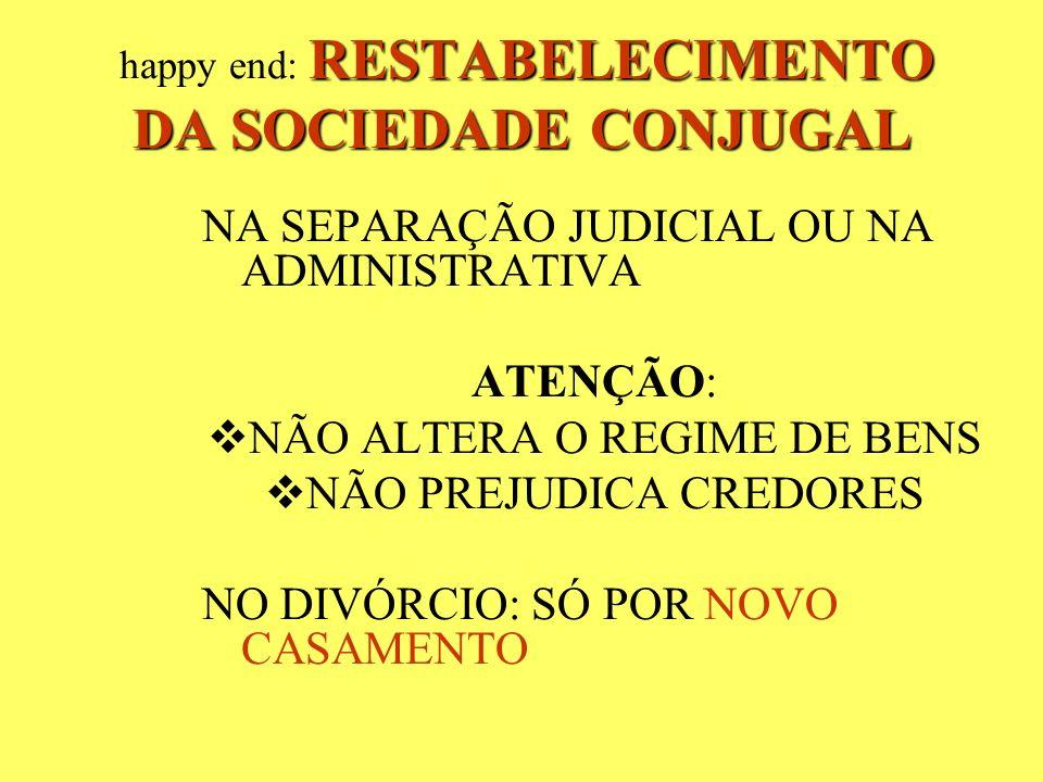 happy end: RESTABELECIMENTO DA SOCIEDADE CONJUGAL