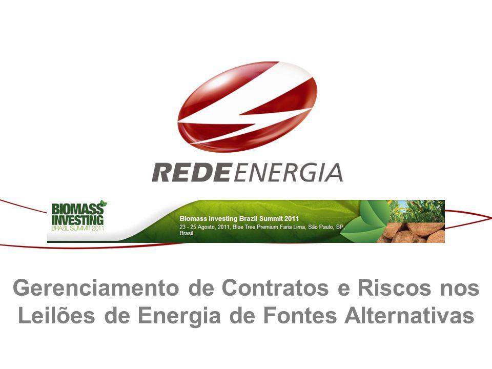 Gerenciamento de Contratos e Riscos nos Leilões de Energia de Fontes Alternativas