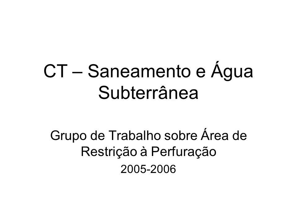 CT – Saneamento e Água Subterrânea