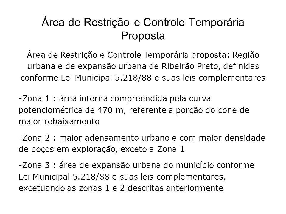 Área de Restrição e Controle Temporária Proposta