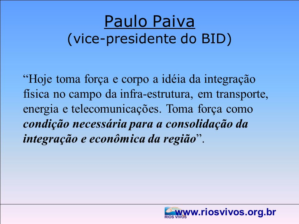 Paulo Paiva (vice-presidente do BID)