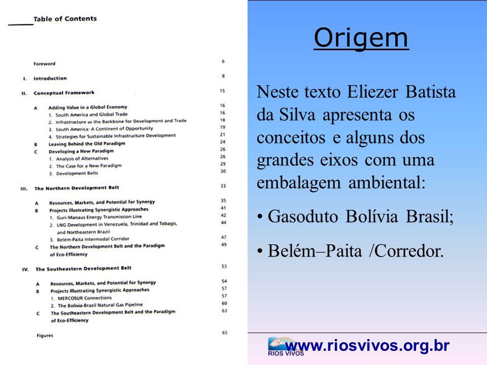 Origem Neste texto Eliezer Batista da Silva apresenta os conceitos e alguns dos grandes eixos com uma embalagem ambiental: