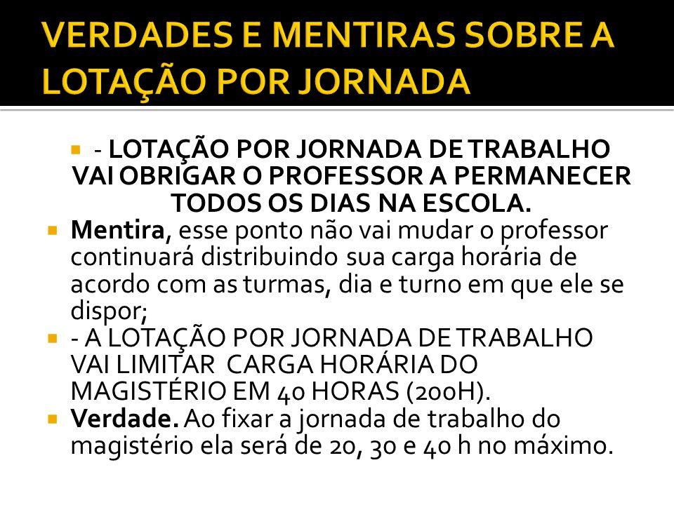 VERDADES E MENTIRAS SOBRE A LOTAÇÃO POR JORNADA