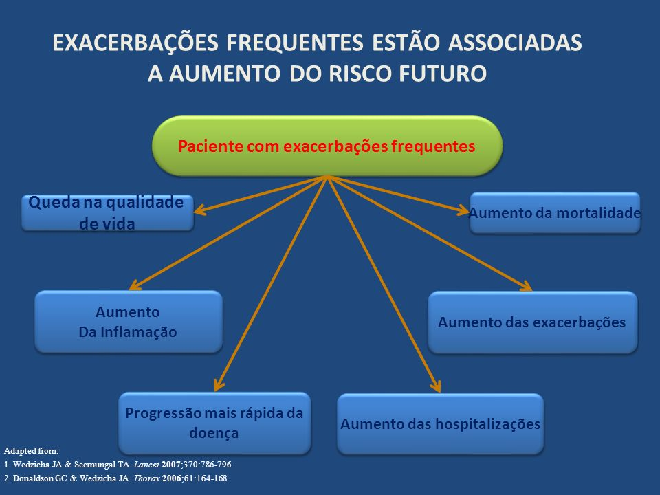 EXACERBAÇÕES FREQUENTES ESTÃO ASSOCIADAS A AUMENTO DO RISCO FUTURO