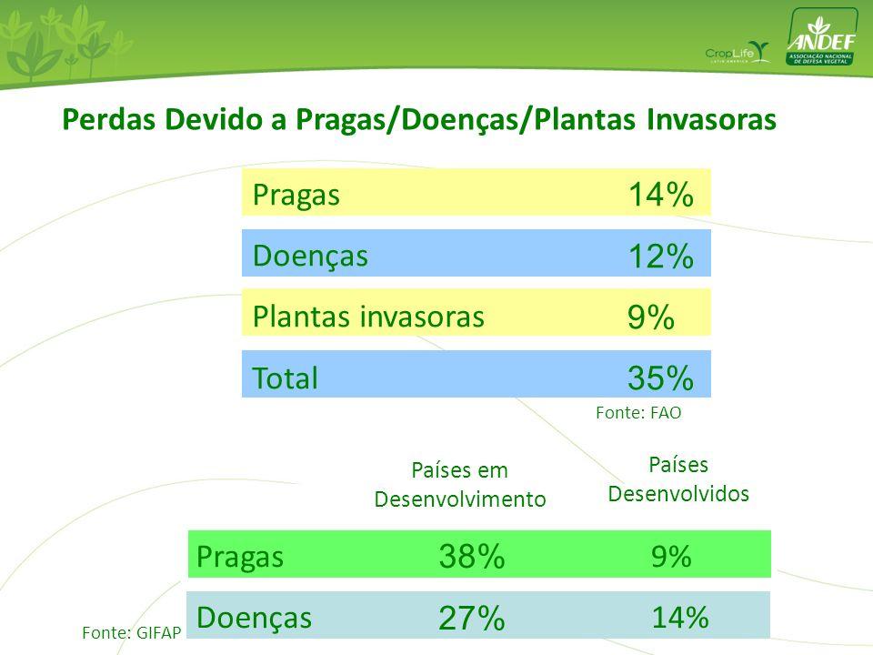 Perdas Devido a Pragas/Doenças/Plantas Invasoras