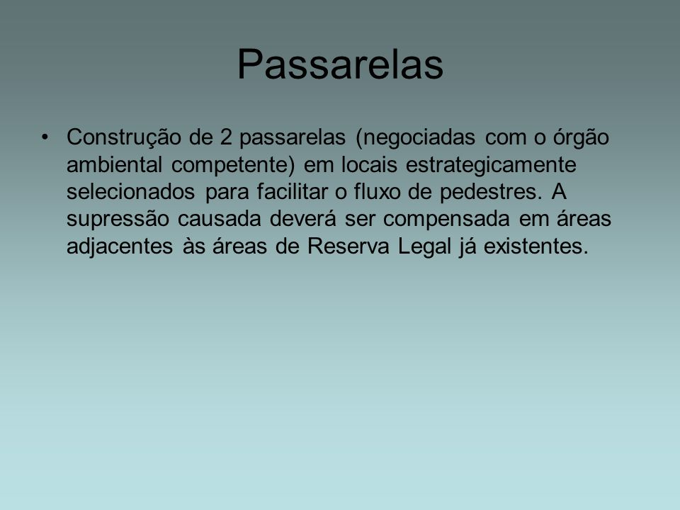 Passarelas